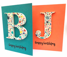 Load image into Gallery viewer, Liberty wooden letter card