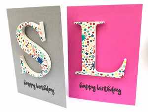 Liberty wooden letter card