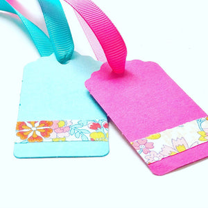 Liberty gift tag - Liberty of London fabric tape gift card tags