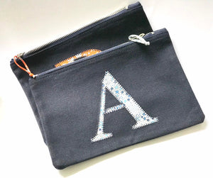 Liberty personalised zip bag