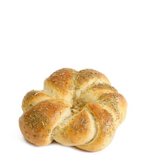 Braided Kitke Bread Roll with Wild Thyme