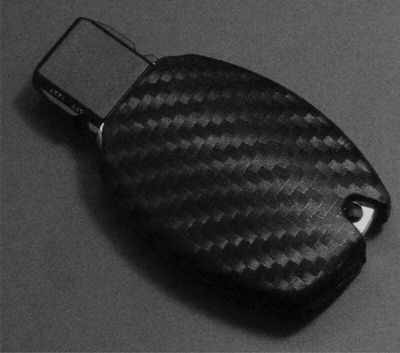Silicone Carbon Look Key Case Cover for Mercedes Benz AMG-W202,203,2