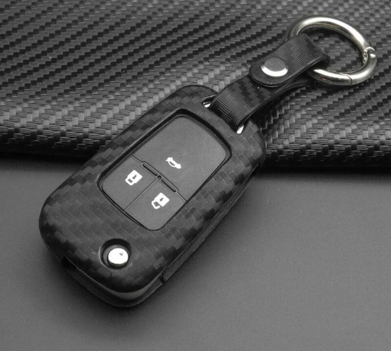 Silicone Carbon Key Case Cover for Vauxhall Astra,Corsa,An