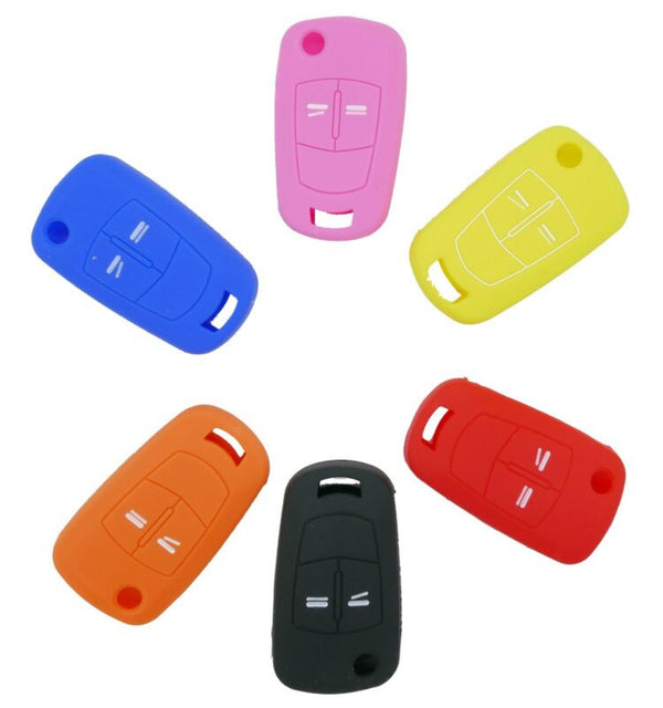 Silicone key cover for Vauxhall Opel Astra Zafira Corsa 2 button remote control