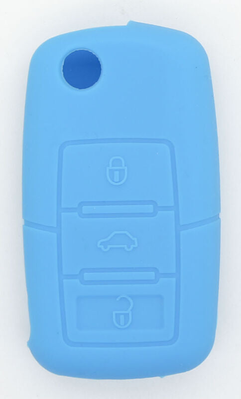 Skoda Superb Octavia Fabia 3 button Soft Silicone Remote Key Fob Case Holder