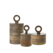Harlow Wood Canister (set of 3)