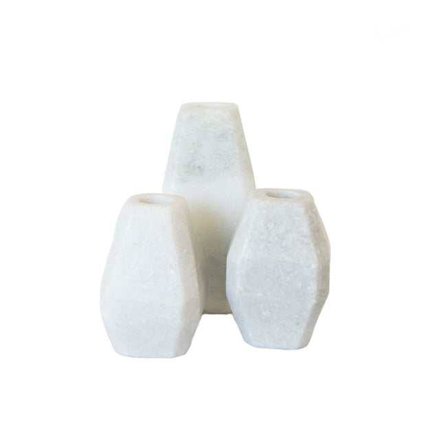 Marble Taper Holder (set of 3)