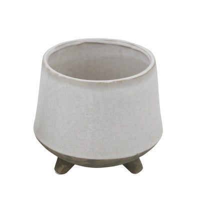 Footed Flower Pot