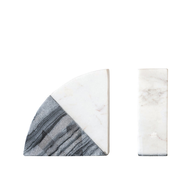 Two-Tone Marble Bookends