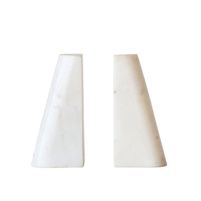 Marble Taper Bookends