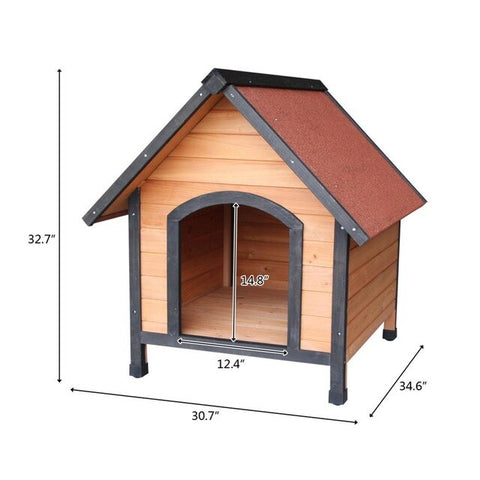 Dog House Pet Outdoor Bed Wood Shelter Home Weather Kennel Waterproof Wooden Dog House Pet Nest For Dog