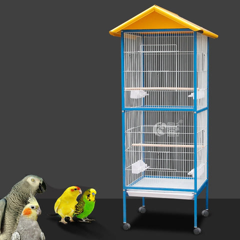 Large Bird Cages Iron Parrot Breeding Cage Starling Birds Finches Hanging Shells Tent Swing Birdcage Nest Hoose Pigeon Supplies