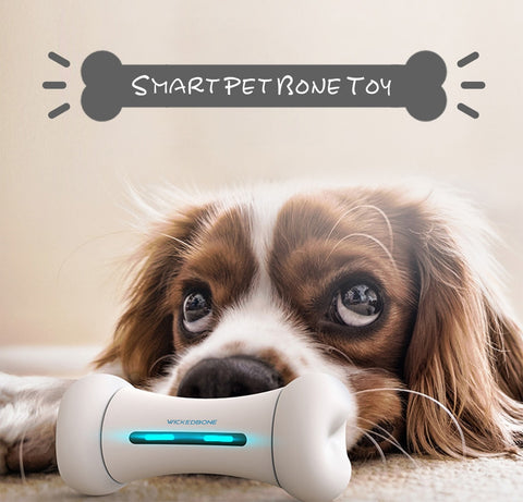 Wickedbone Smart Pet Emotional Interaction Bone Toy Smart Dog Cat Toys APP Control Pet's Emotions Toy For Dog Bone Toy