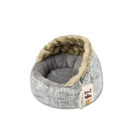 Soft Long Plush Cat Bed Round Plush Cat Bed House Round Pet Dog Bed For Small Dogs Cats Nest Winter Warm Sleeping Bed Puppy Mat