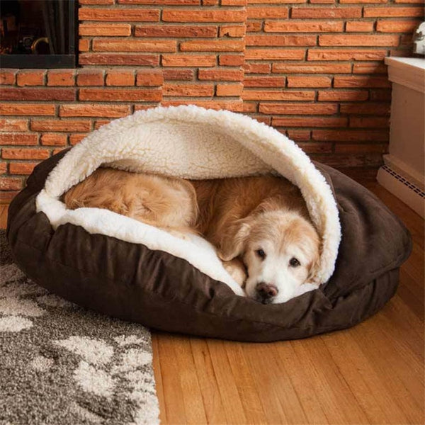 Winter Products Dog Cave Bed Pet House Pad Soft Kennel Dogs Home Nest Washable Nest Pet Cave Warm Sleeping Mats Kennel Nest Pet