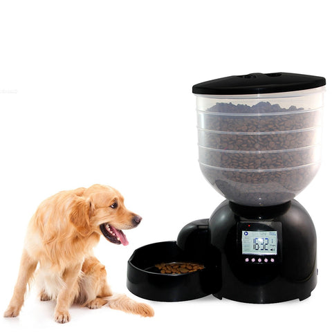 11L Automatic Pet Feeder with Voice Message Recording and LCD Screen Large Smart Dogs Cats Food Bowl Dispenser Pet Products