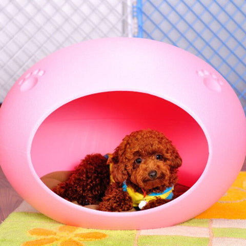 Plastic Kennel Pet Dogs House Cushion Small Bed Dog Luxury Sleeping Bag Pets Nest Swing Creat Tapis Chien Pet Products DD6GW