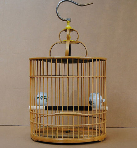 Bamboo bird cages home garden decoration hobby gift bird supplies pet accessories