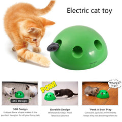Creative Electric Pet Funny Cat Tray Training Toy Cat Scratch Mouse Toy Interactive Puzzle Game Play Exciting Cat Scratching Toy