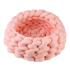 Round Cat Bed House Soft knitted Cat Bed Round Pet Dog Bed For Small Dogs Cats Nest Winter Warm Sleeping Bed Puppy Mat1