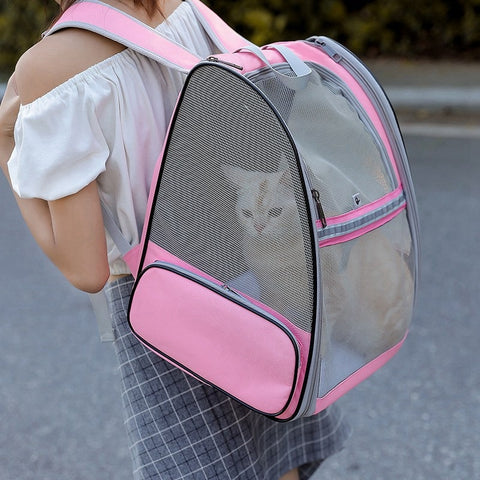 Dog Bag Breathable Dog Backpack Large Capacity Cat Carrying Bag Portable Outdoor Travel Pet Carrier