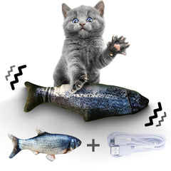 Electronic Pet Cat Toy Electric USB Charging Simulation Fish Toys for Dog Cat Chewing Playing Plush Interactive Gift Catnip Toy