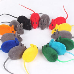 1/2/3/5/10PCS Funny False Mouse Multicolor Pet Cat Simulation Fish Toys With USB Cable Plush Cat Playing Toys For Cats Kitten