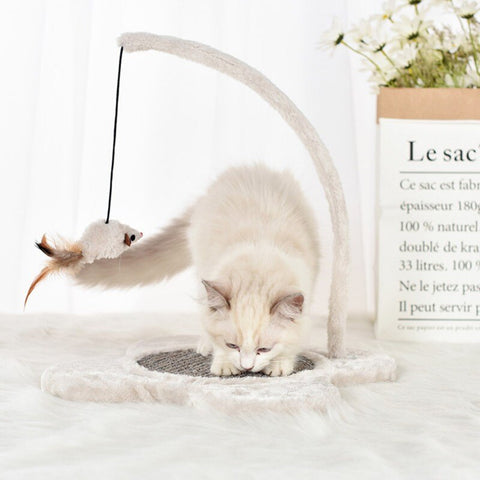 Interactive Funny Seesaw Toy Cat Toys Kitten Cat Scratch Pad With Feather Kitten Scratch Toy With Fake Mice Pet Toys