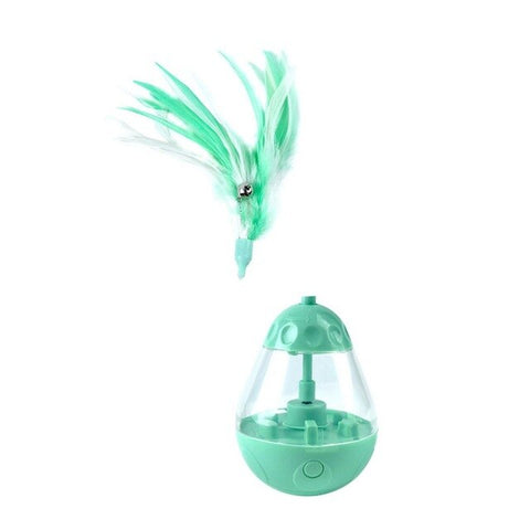 New Cats Interactive Playing Training Balls Pet Cats Dogs Feather Ball Toys Feeding Treat Smarter Food Dispenser Pet Supplies
