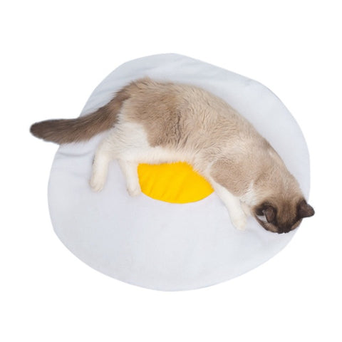 Pet Cat Litter Mat Omelette Mat Yolk Design Cat Litter Pet Comfortable Sleeping Pad Products For Cats Nest Accessories