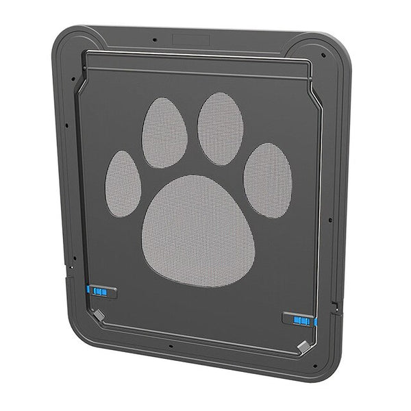 Lockable ABS Plastic Pet Screen Door Cat Dog Screen Door Security Flap Door Animal Dog-Tunnel Flap Puppy Dog Cat Gate
