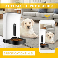 Smart feeder Automatic Pet Feeder, Pet Food Dispenser For Dogs And Cats, Controlled By Iphone, Android Or Other Smart Devices