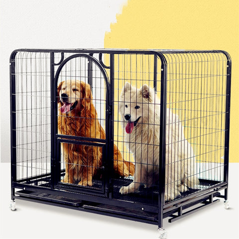 Dog Cage Large Dog Indoor Golden Hair Labrador Samo Medium Dog Cage with Toilet Small Dog Pet Cage