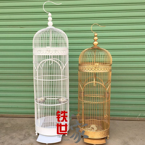 1PCS European bird cage iron parrot myna villa bird cage outdoor landing bird cage