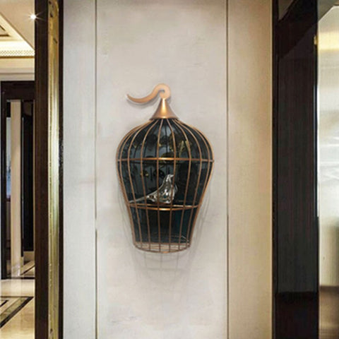 1PCS Iron bird cage wall hanging background wall soft decoration pendant home living room porch wall crafts