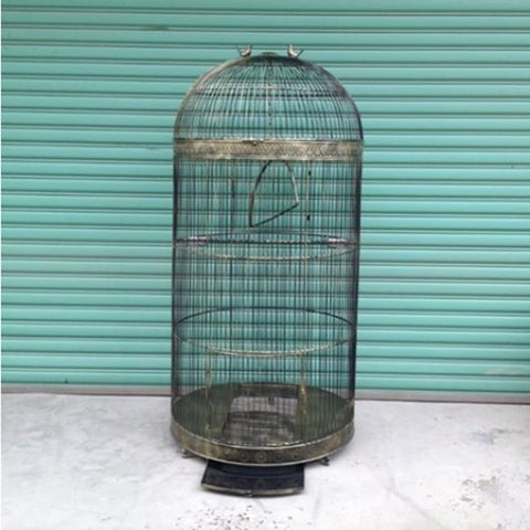 1PCS Iron Bird Cage Large Parrot Bird Cage Villa Myna Bird Cage Outdoor Large Bird Cage