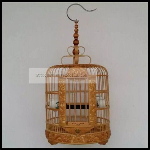 1 set 26 30 34 36cm bird cage old bamboo high-grade carved thrush cage