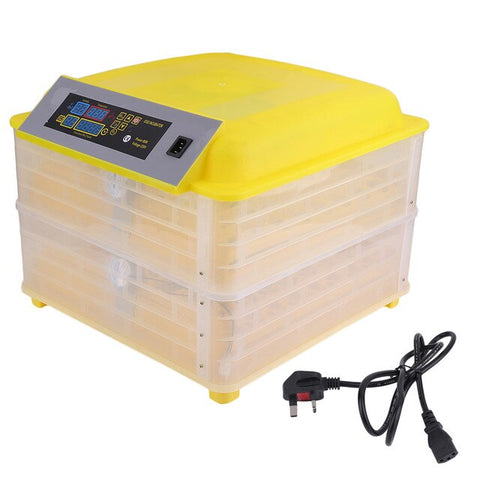 Professional Automatic Chicken 96 Egg Incubator Duck Bird Egg Hatching Equipment Temperature Control Hatchery Machine UK Plug