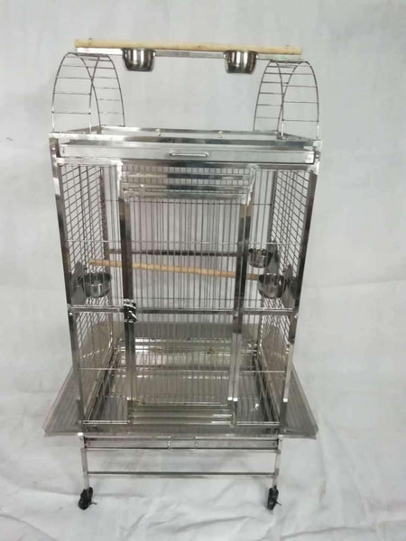 High Quality SUS304 60X50x150cm Stainless Steel Bird Parrot Cage For Bird Parrot Play Top ST64P