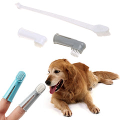 3Pcs/set Pet Finger Toothbrush Dog Brush Double Head Teeth Care Dog Cat Cleaning Toothbrushes For Dogs Pet Supplies