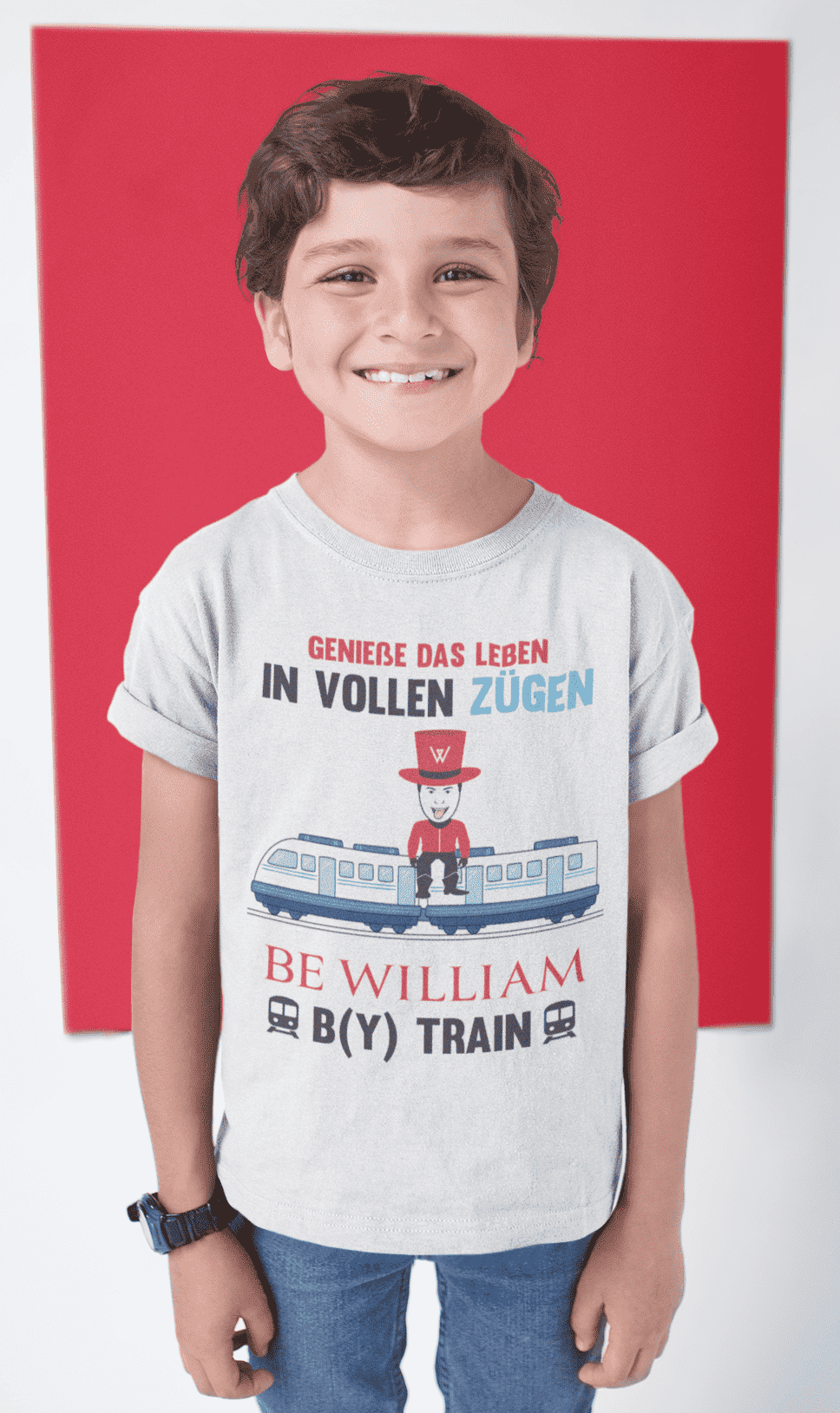 """Zug"" Kinder T-Shirt aus 100 % Bio-Baumwolle - Be William"