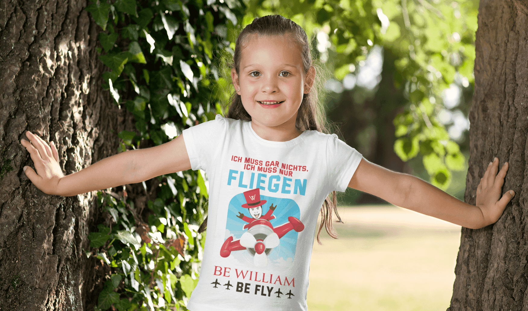 """Fly"" Kinder T-Shirt aus 100 % Bio-Baumwolle - Be William"