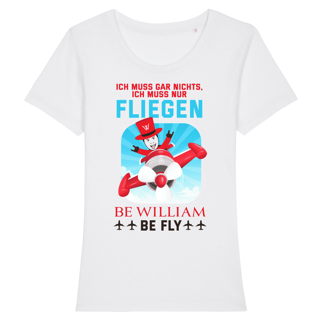 """Fly"" Damen T-Shirt aus 100 % Bio-Baumwolle - Be William"