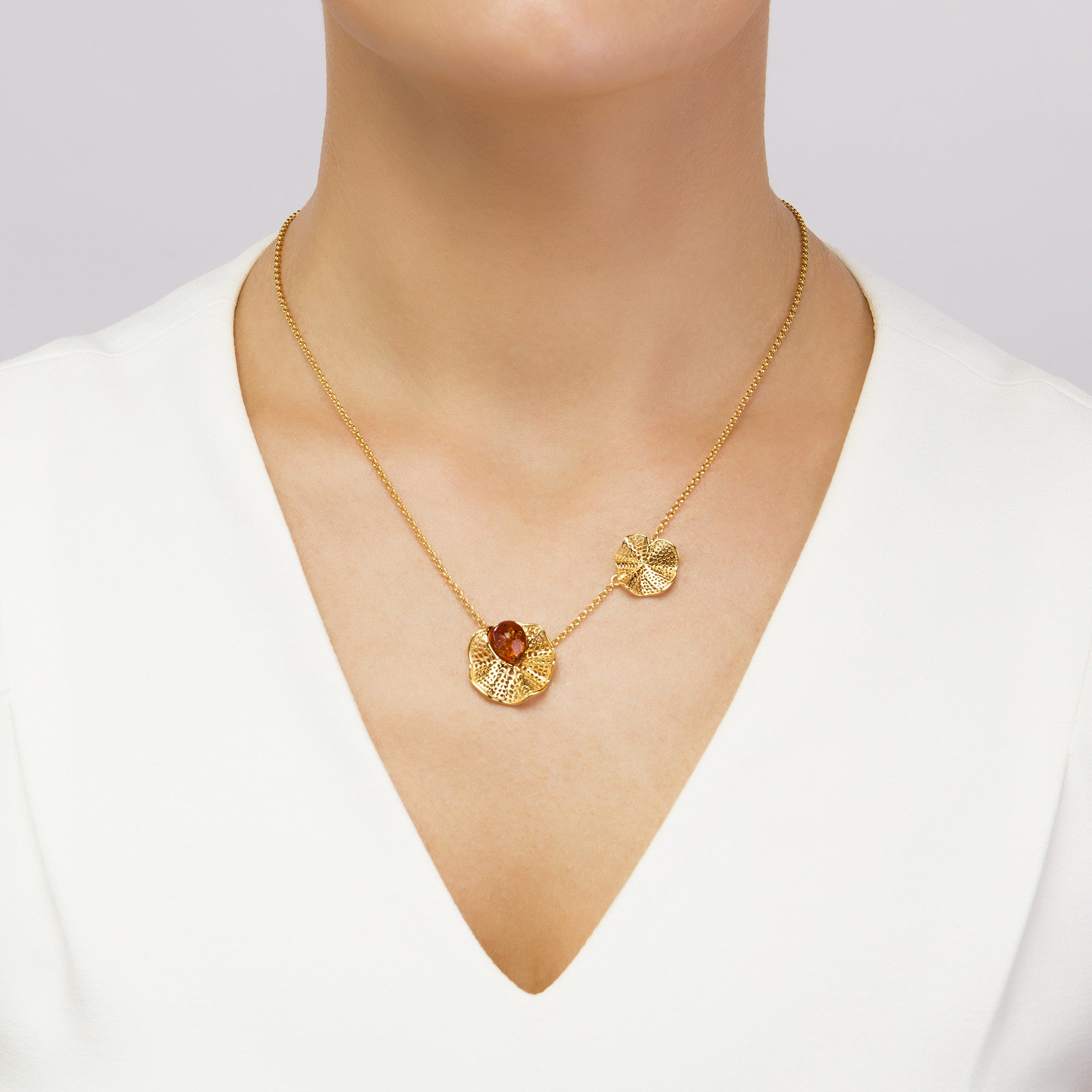 Morning Glory Cognac Necklace