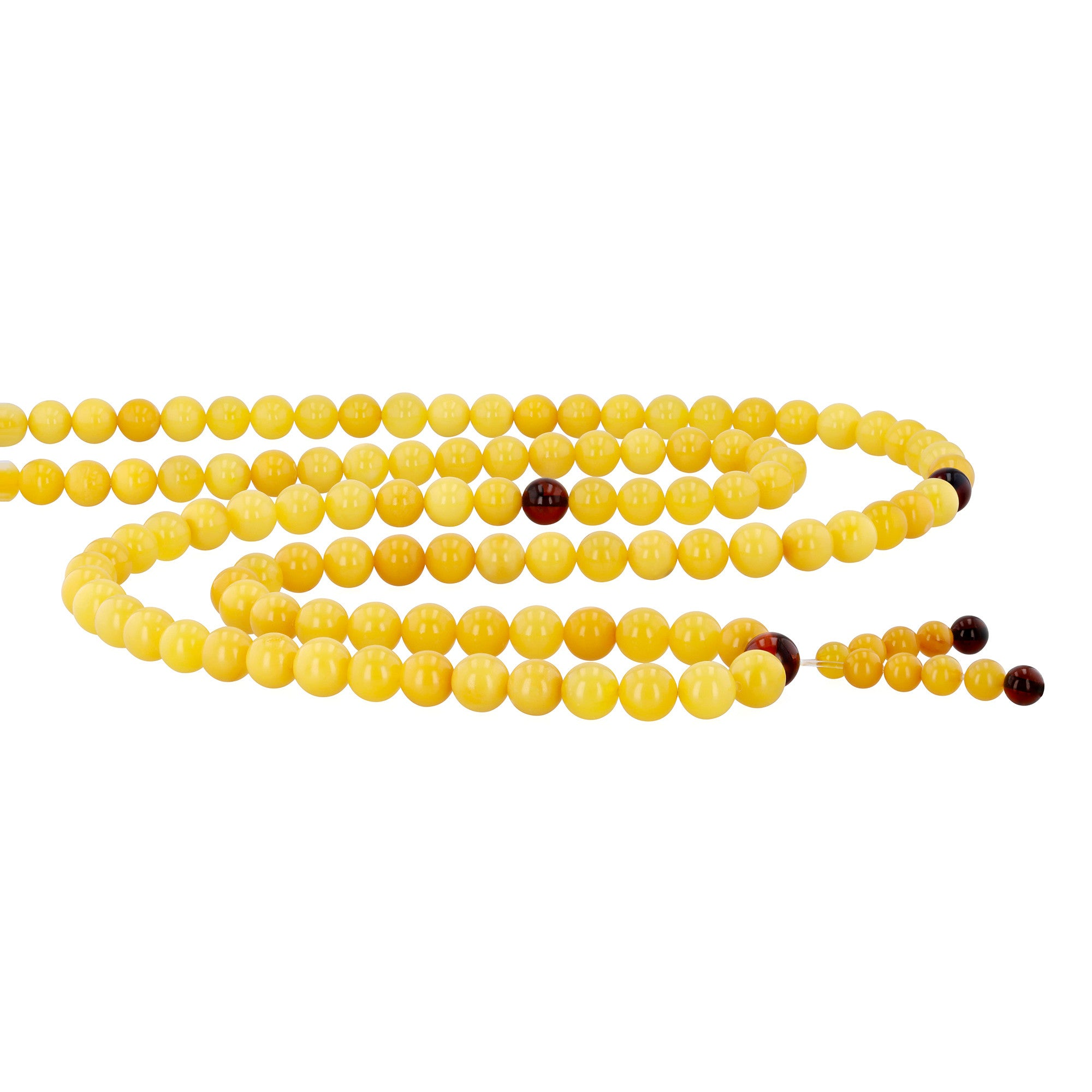 Mala Antique White & Cherry Amber Mix