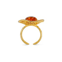 Goddess of Zircons Cognac Ring