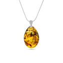 Big Drop Insect Inclusion Amber Pendant