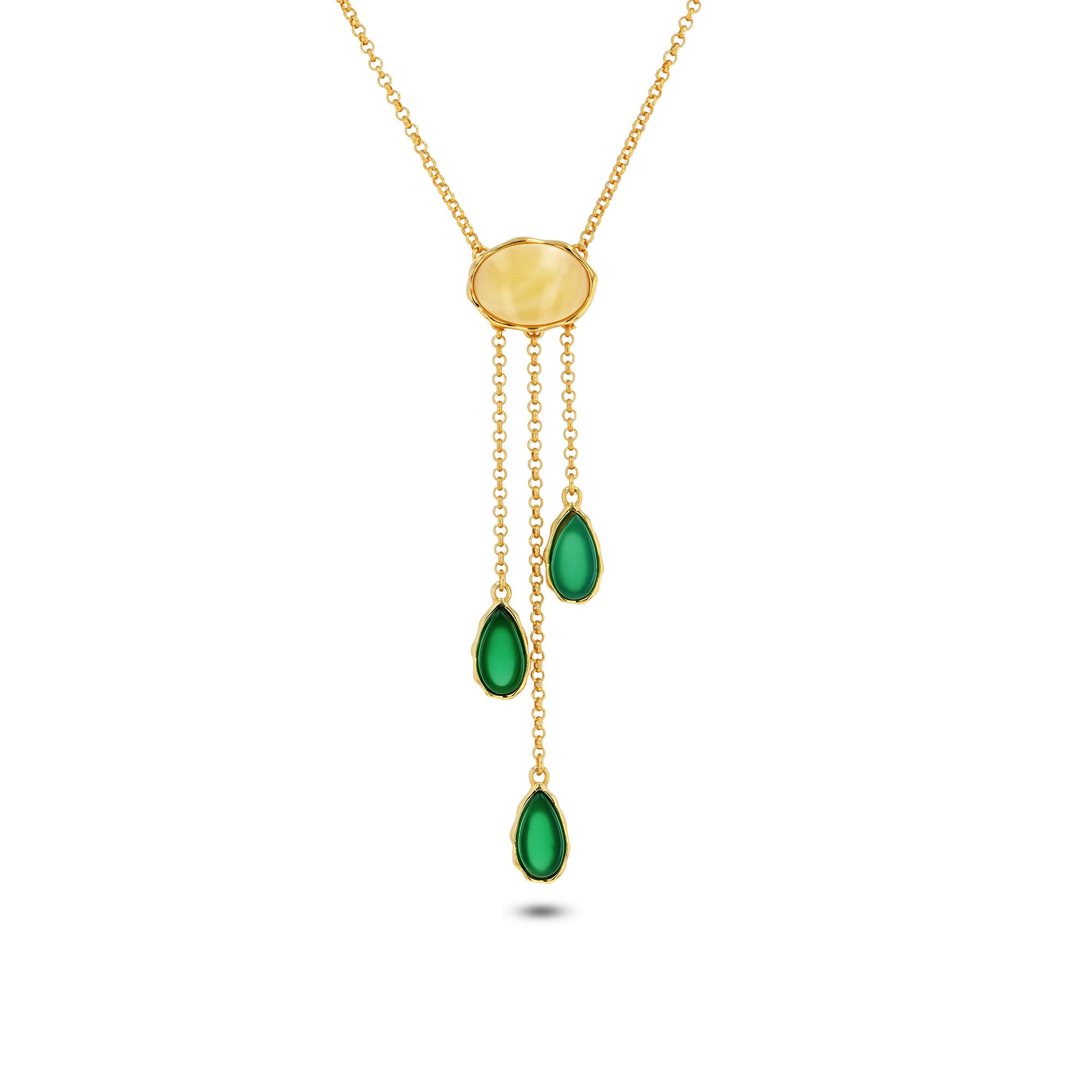 Sea Breeze Droplets Necklace