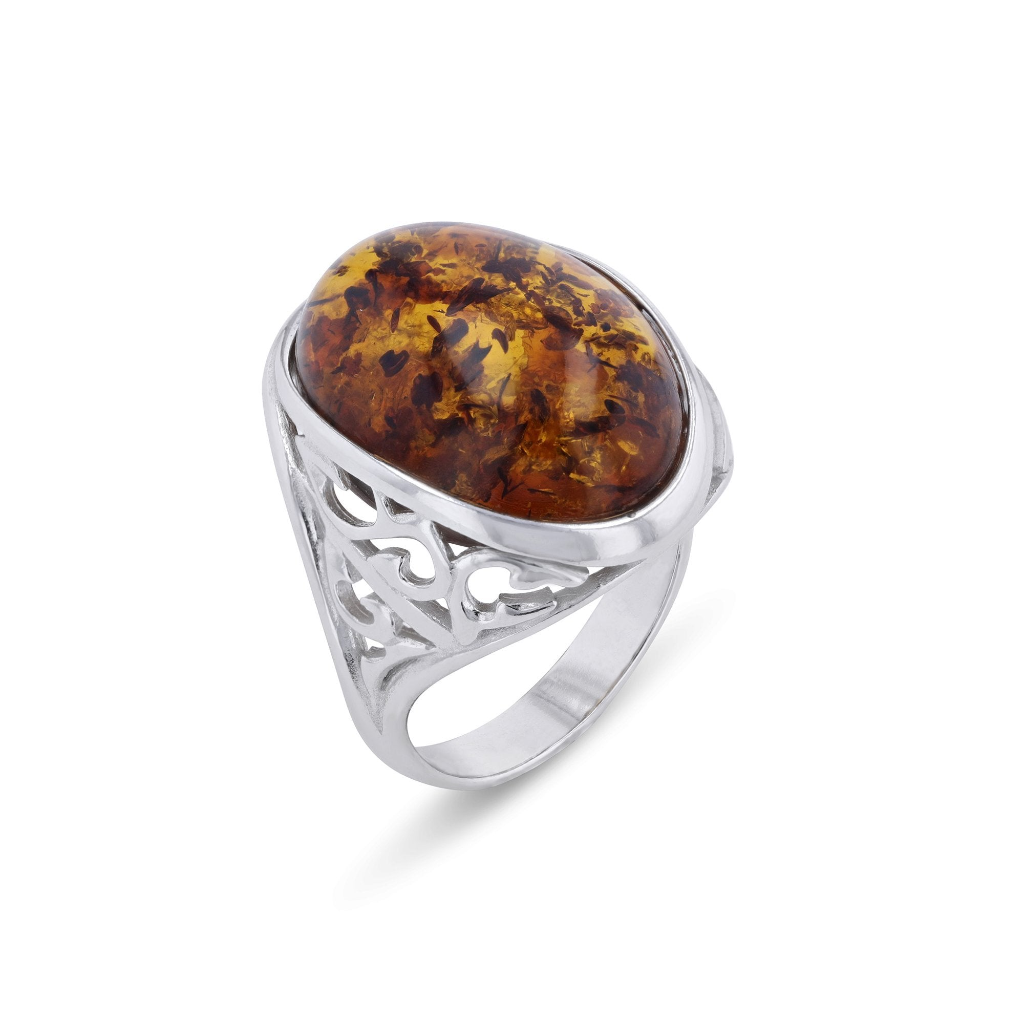 Cliff Oval Cognac Ring - Koraba