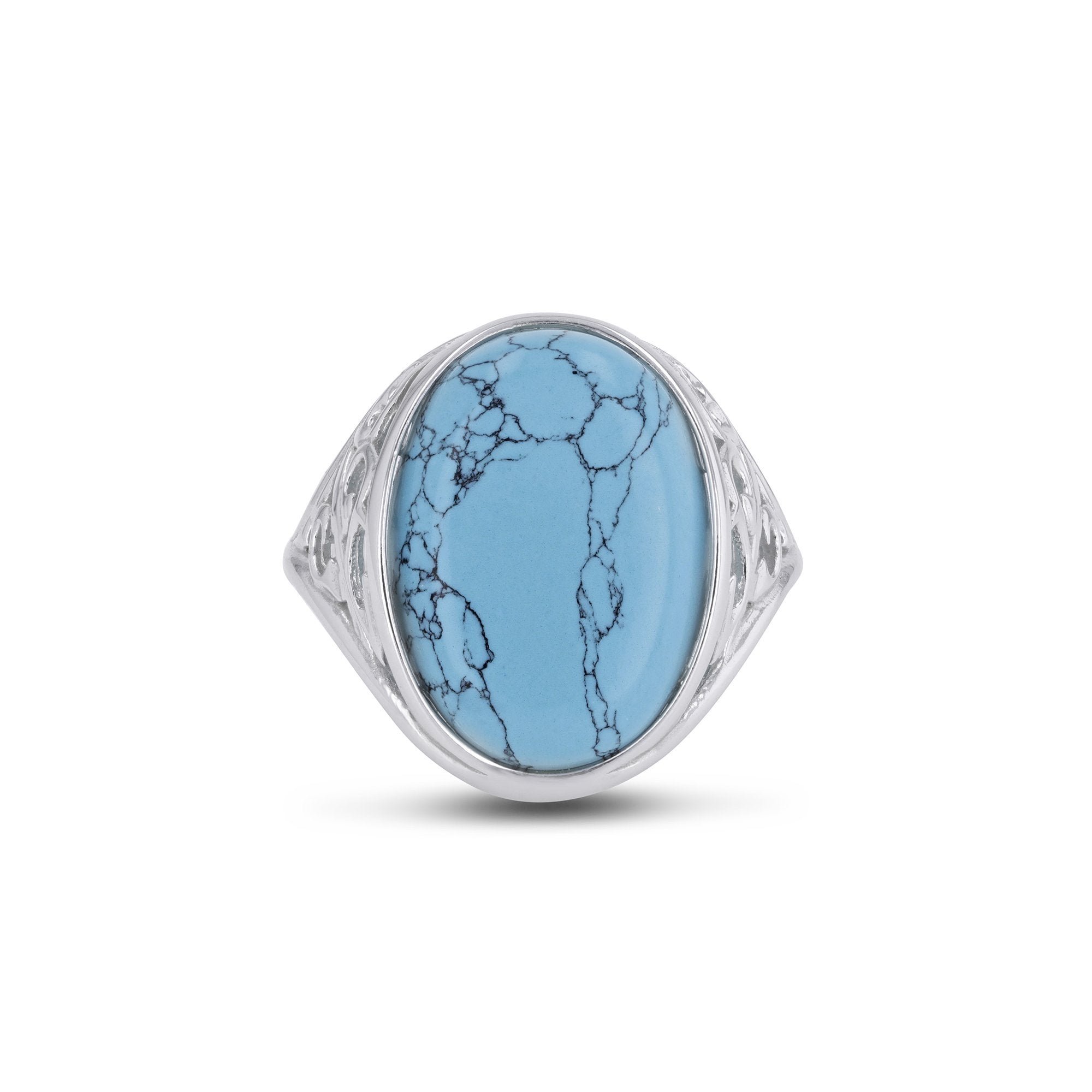 Cliff Oval Turquoise Ring - Koraba